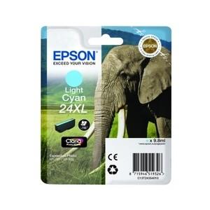 Cartouche encre Epson Cyan clair 24XL elephant