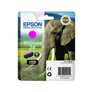 Cartouche encre Epson magenta 24 elephant