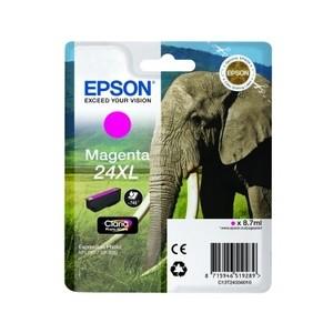 Cartouche encre Epson magenta  24XL elephant