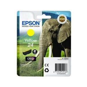 Cartouche encre Epson jaune 24 elephant