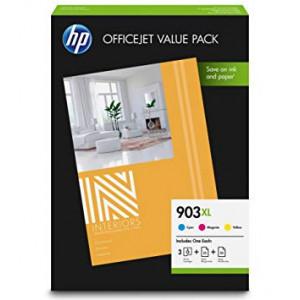 Pack de 3 cartouches HP N°903XL  couleur -