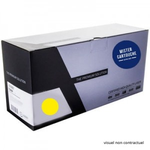 Toner laser compatible HP 410X / CF412X Jaune