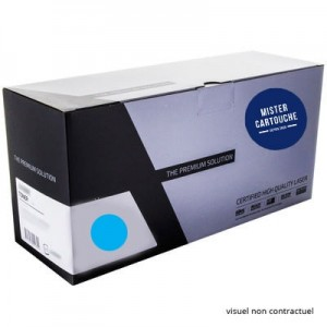 Toner laser compatible HP CE341 A Cyan
