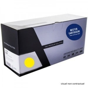 Toner laser compatible Oki 44250721 Jaune