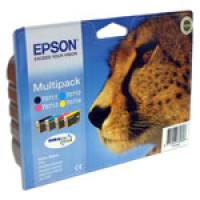Lot Cartouches encre Epson  T0715 Noire et Couleur