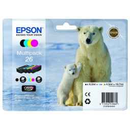 Epson T2616 Pack 4 Cartouches 26 - Ours Polaire