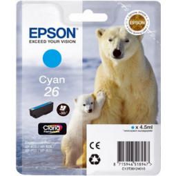 Cartouche encre Epson T2612 cyan  - Ours Polaire série 26
