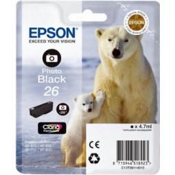 Cartouche encre Epson T2611 noire photo  - 26 Ours Polaire