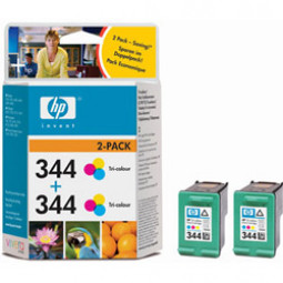 Pack 2 Cartouches encre HP C9363EE N°344 Couleur