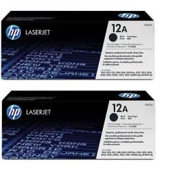 Pack de 2 Cartouches Laser HP 12A / Q2612A
