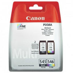 Pack de 2 Cartouches encre Canon PG-545 noire et CL-546 couleur